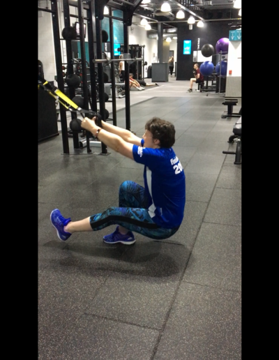 Assisted pistol squats