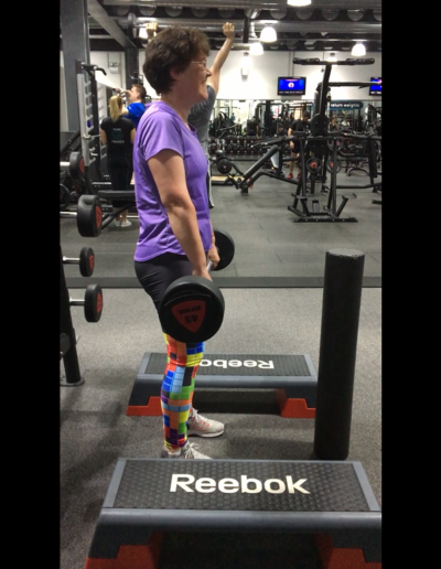 Doing some deadlifts