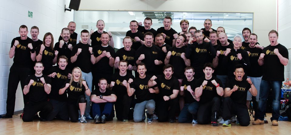 Doing the training for warriors course with Martin Rooney