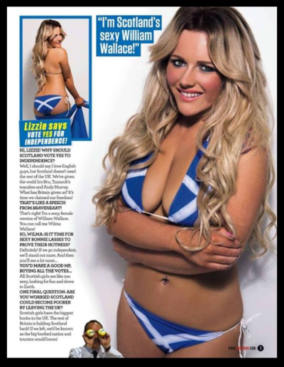 Glamour model client in a magazine