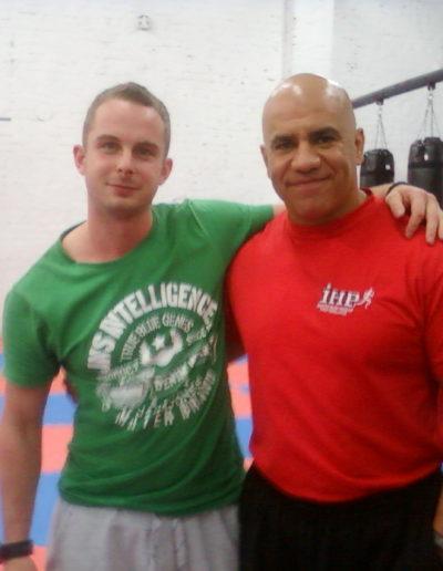 Me and Juan Carlos Santana who taught me MMA conditioning