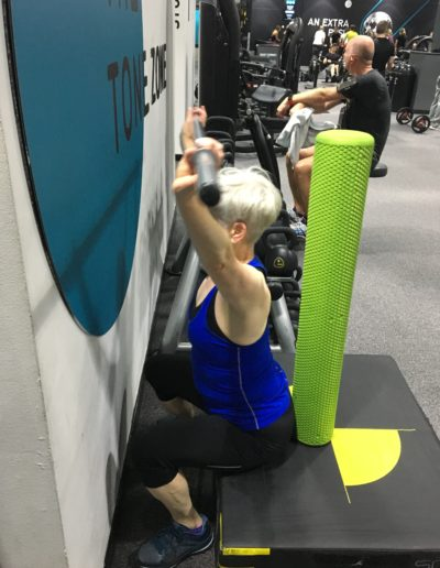 Restricted overhead squats