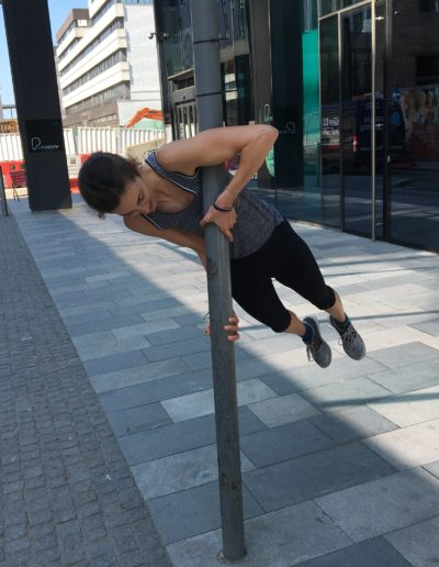 Training for the human flag
