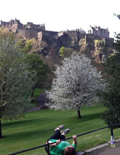 Windshield wipers in Princes street gardens