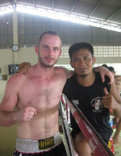 Me and my trainer Wang in Thailand.